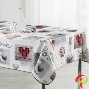 Nappe rectangulaire anti tâche – Coeurs & Love Nappe rectangulaire Nappe