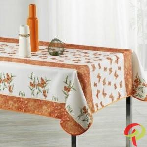Nappe rectangulaire anti tâche – Papillon orange Nappe rectangulaire Nappe
