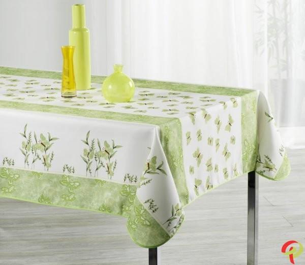 Nappe rectangulaire anti tâche – Papillon vert Nappe rectangulaire Nappe