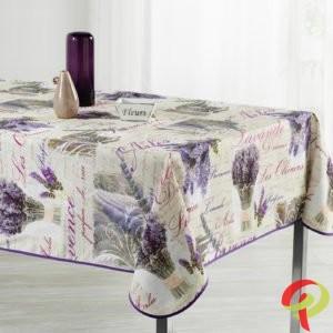 Nappe rectangulaire anti tâche – Bouquets de lavande Nappe rectangulaire Nappe