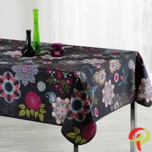 Nappe rectangulaire anti tâche – Fleurs & Oiseaux multicolore Nappe rectangulaire Nappe