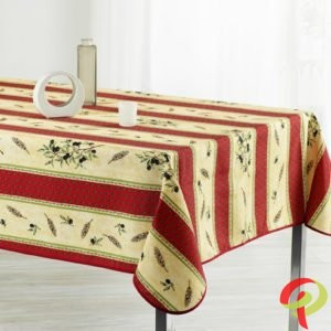 Nappe rectangulaire anti tâche – Rouge olive Nappe rectangulaire Nappe