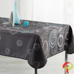 Nappe rectangulaire anti tâche – Cercles & splash bleu Nappe rectangulaire Nappe