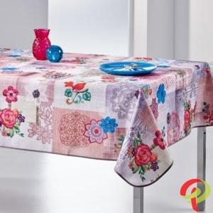 Nappe rectangulaire anti tâche – Fleurie et Multicolore Nappe rectangulaire Nappe