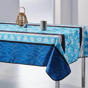 Nappe rectangulaire anti tâche – Bleu et Fraîche Nappe rectangulaire Nappe