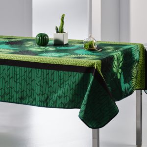 Nappe rectangulaire anti tâche – Verte et Moderne Nappe rectangulaire Nappe