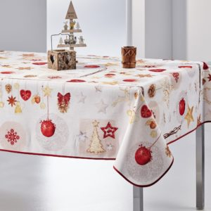 Nappe rectangulaire anti tâche – Joyeux Noël Nappe Noël Joyeux Noël