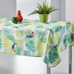 Nappe rectangulaire anti tâche – Toucans verte Nappe rectangulaire bleu