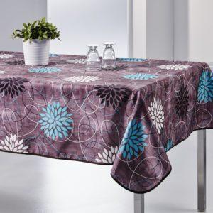 Nappe rectangulaire anti tâche – Violette et Rosaces Nappe rectangulaire Nappe