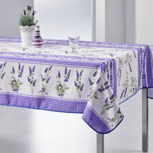 Nappe rectangulaire anti tâche – Lavande et Violette Nappe rectangulaire lavande