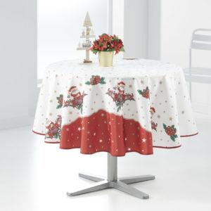 Nappe ronde anti tâche –  Noël en Famille Nappe Noël Nappe